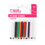 Mini canes Assortiment Animaux x 10 pcs
