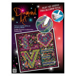 Tableau scintillant en strass Love