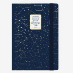 Carnet medium ligné stars