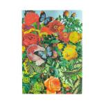 Carnet souple ligné Jardin aux papillons 13 x 18 cm 100 g/m² 176 p