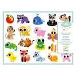 Stickers des petis Bébés animaux