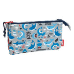 Trousse 5 compartiments Shark Attack 22 x 12 x 4 cm