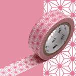 Masking Tape 1P Asanoha momo 15 mm x 7 m