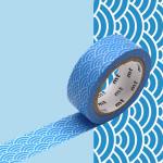 Masking Tape 1P Seigaihamon tsuyukusa 15 mm x 7 m