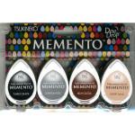Assortiment de 4 encreurs Memento Dew Drop - Stone Mountain